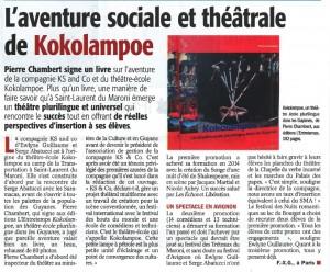 Le livre Kokolampoe, de Pierre Chambert ; Éd. l'entretemps ; 192 pages ; parution le 28-10-2015